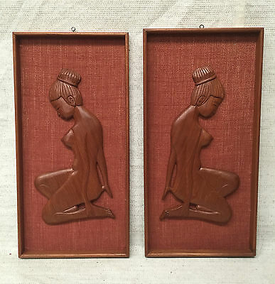 TIKI WALL HANGINGS Retro Mid Century Vintage Totally Refurbed UPCYCLED
