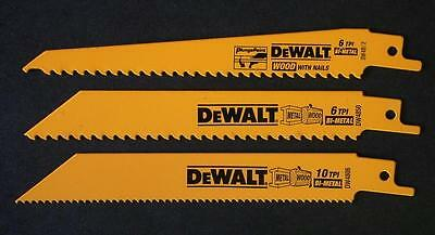 Dewalt Dw4853 Reciprocating Saw Blade 3 Set For Wood & Metalr181 Dc385