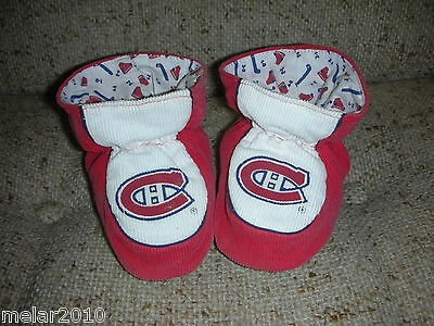 NHL Montreal Canadiens  Infant Booties With No Skid Feet Sz 12-18 Months