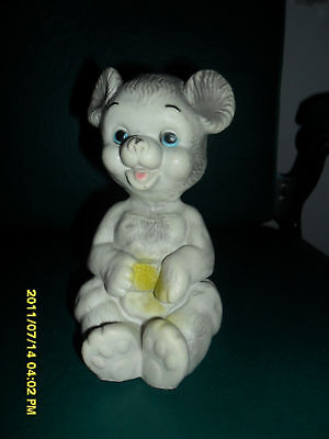 1968 Rubber Squeek Toy Of  Baby Bear Cub Soft Rubber