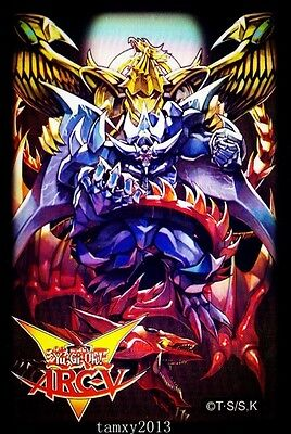 (50)3 Gods Yugioh Arcv Card Sleeves Deck Protectors. Shipping is Free