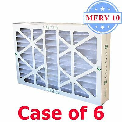 16x25x4 Air Filter MERV 10 Pleated by Glasfloss - Box of 6 - AC/Furnace Filters