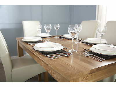 Solid Oak Dining Table with Butchers Block Design - 3ft 4ft 5ft - Seats 4 to 8