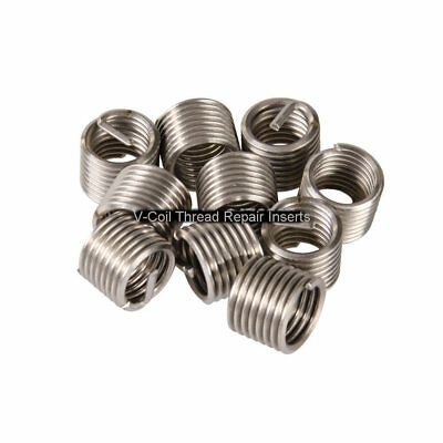 V-Coil 12 mm Thread Repair Inserts M12 x 1.0 1.0D 10 off Helicoil Compatible