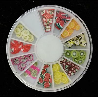 120 PCS 3D Mix Fimo Nail Art Decoration Tips polymer clay slices Wheel-8891A