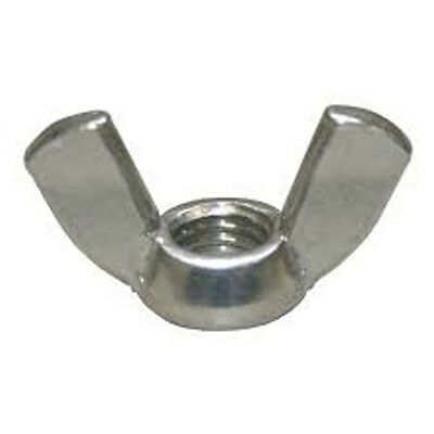 Stainless Steel 316 Wing Nut 3/8-16 2 Pack