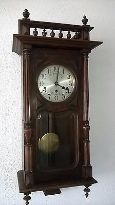 0001-Antique German Kienzle Westminster chime wall clock