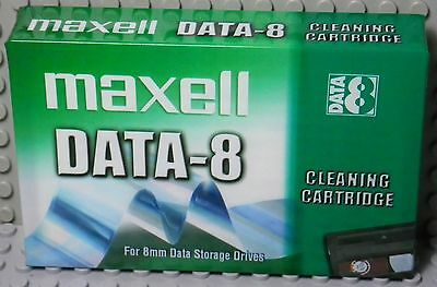 K7 Tape Maxell Data-8 Cleaning Cartridge for 8mm / Video 8 - Neuf New Sealed