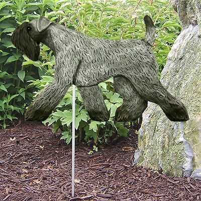 Kerry Blue Terrier Outdoor Garden Sign Hand Painted Figure