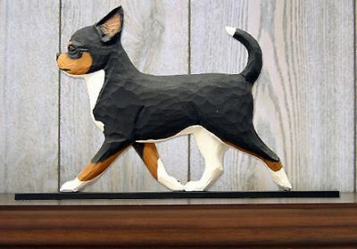 Chihuahua Figurine Sign Plaque Display Wall Decoration Tri