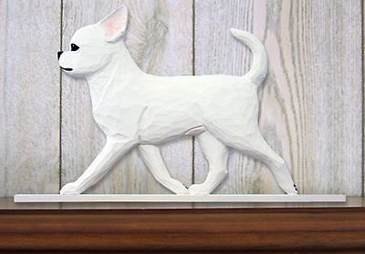Chihuahua Sign Plaque Wall Decor White