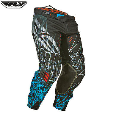Fly Evolution PANTS Clean Spike BLACK BLUE Motocross Enduro offroad clothing 34