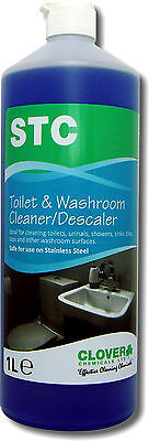 12 x 1ltr STC Bacterial Washroom Cleaner & Descaler - Safe On Stainless Steel