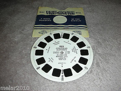 Vintage Sawyer's View-Master Reel # 925 PERFORMING ELEPHANTS ST.LOUIS ZOO USA