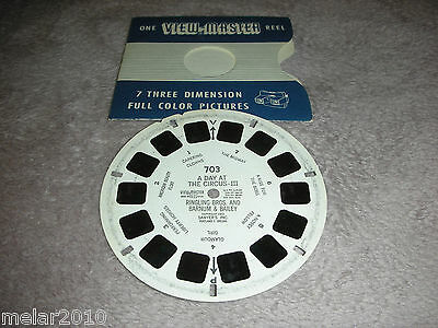 Vintage Sawyer's View-Master Reel # 703 A DAY AT THE CIRCUS-III RINGLY BARNUM