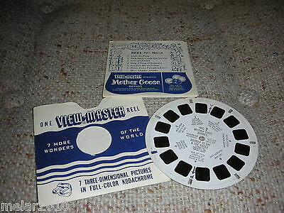 VintageSawyer's View-Master  MG.3 MotherGoose Rhymes BoPeep to Cat &The Fiddle