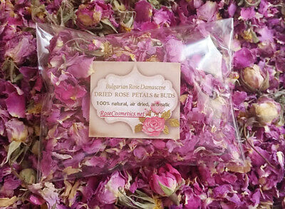 Natural ROSE petals & buds Bulgarian Rosa Aromatic dry flowers - 1.7oz , 2016