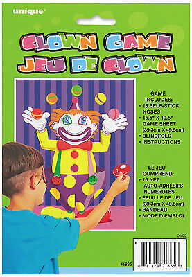 Stick The Nose On The Clown Game - Suitable For Up To 16 Players