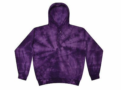 PURPLE TIE DYE Hoodie Sweatshirt S M L XL 2X 3X Long Sleeve