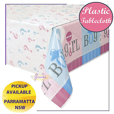 Gender Reveal Baby Shower Party Supplies Plastic Tablecloth Table Cover