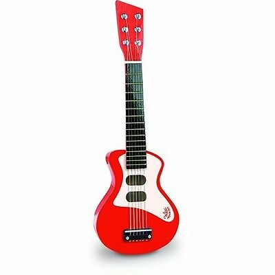 Vilac Rock-n-Roll Toy Guitar (Red). Brand New