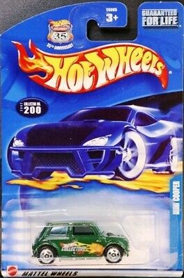 Hot Wheels 2002 Mini Cooper #200   Variation 1:64 Scale Collectible Die Cast Car