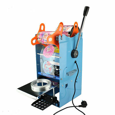 AC 220V Electric Automatic Plastic Drink Sealing Cups Sealer Sealing Machine