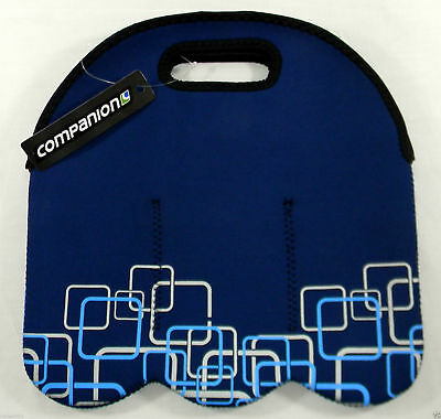 6 Pack BLUE Carrier Bottle Can Companion New Caravan Camping Neoprene Picnic RV