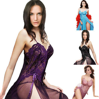 Plus Size S-6XL 4 Colors Lingerie Nightgown Gown Long Babydoll Nighty