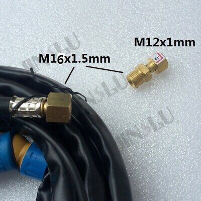 M16 X 1.5mm to M12 x 1mm Adpator Connector for Tig Torch Cutting Torch