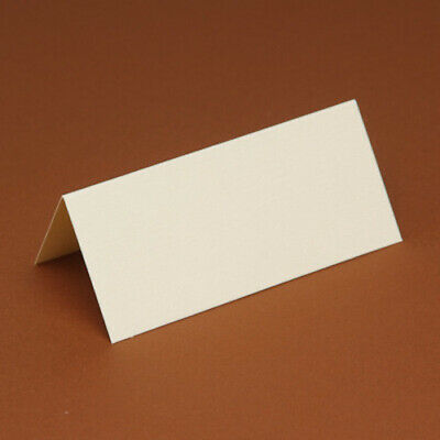 20 Table/Place cards 240gsm white, black, cream, ivory