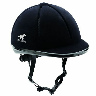 Red Horse Riding Helmet - Equestrian Eventing Showing Jumping Safety BSEN:1384