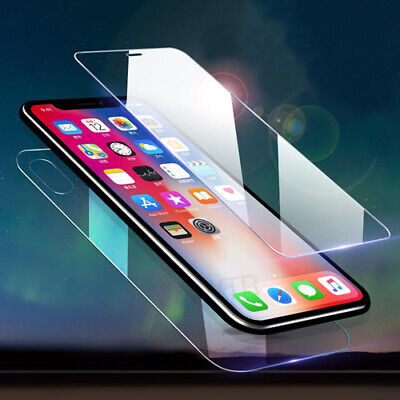 Genuine Front & Back Tempered Glass Screen Protector For iPhone Samsung Sony UK