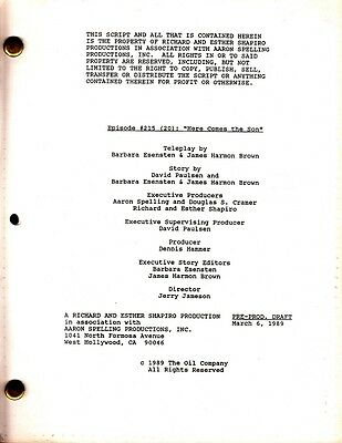 JOAN COLLINS - JOHN JAMES - Orig DYNASTY TV Script HERE COMES THE SON 1989 C#12