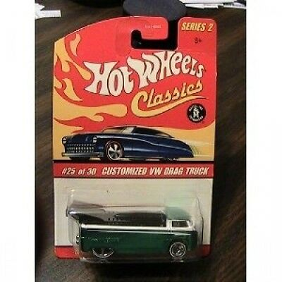 Hot Wheels Classics Series 2 Customised Green/White VW Drag Truck 25/30 Collecto