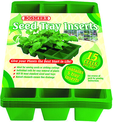 N303 Bosmere Seed Tray Inserts - 5 trays, 15 cell inserts per tray MAKE OFFER
