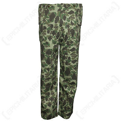 WW2 US ARMY HBT CAMO TROUSERS - Repro Military Pants Heavyweight Frogskin