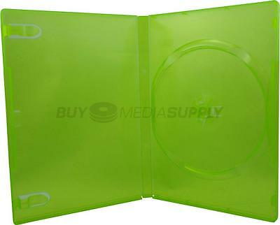 14mm Standard Clear Green 1 Disc DVD Case - 8 Piece