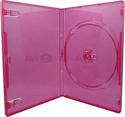 14mm Standard Clear Red 1 Disc DVD Case - 10 Pack