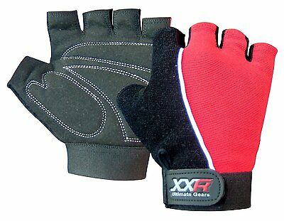 XXR Gel Max Padded Cycling Gloves MTB Mountain Bike Biker Gloves Fingerless
