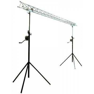 Ibiza Lightbridge Winch Truss Gantry 4m Disco DJ Lighting Stand Goalpost Light