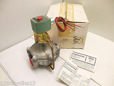 "*** NEW IN BOX *** ASCO 8215G95Q SOLENOID VALVE NC 1"" NPT  240Vac"