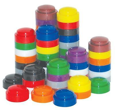 Domed Stacking Counters Bag of 100 Maths Educational Teacher Resource Homeschool