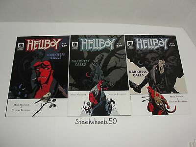 Hellboy Darkness Calls #1 3 4 Comic Book Lot Dark Horse 2007 Mike Mignola Duncan