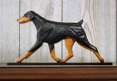 Doberman Pinscher Figurine Sign Plaque Display Wall Decoration Black/Tan Uncr...
