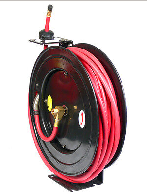 3/8'' x 100 FT FEET RETRACTABLE RUBBER AIR HOSE REEL 300 PSI FREE SHIPPING