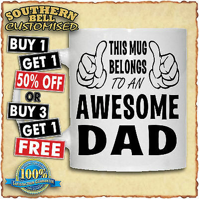 PERSONALISED AWESOME PHOTO MUG Christmas Birthday Fathers Mothers Valentines Cup