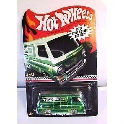 2012 Hot Wheels Collector Edition Mail-In '66 Dodge A100 Green #4 of 4. Best Pri