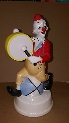 "Vintage Porcelain Clown Music Box ""Bring In The Clowns"" Made In Japan"
