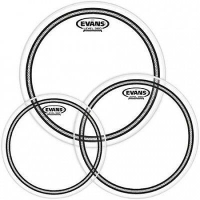 Evans EC2 SST Clear Drumhead Pack Rock - 10/12/16. Free Shipping